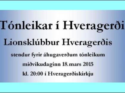 Tónleikar í Hveragerðiskirkju