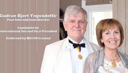 Guðrún Björt í framboði til 2. vara alþjóðaforseta